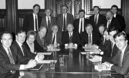 Labour Party Shadow Cabinet 1988, back row: Frank Dobson, second to the right.