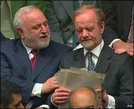 Frank with the late Robin Cook on the day of his resignation speech